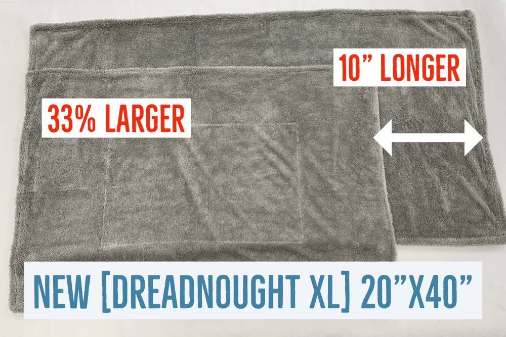 [Dreadnought XL] Microfiber Car Drying Towel (20 in. x 40 in., 1100gsm) - 1 pack