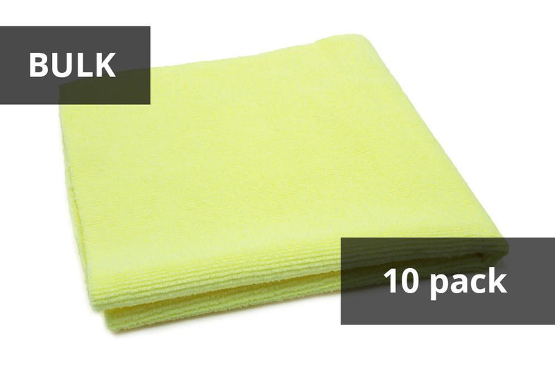 Autofiber Yellow BULK BUNDLE [Utility] All-Purpose Edgeless Microfiber Towel (16 in x 16 in., 300 gsm) 10pack
