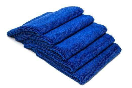 Autofiber Towel Blue [Elite 70.30] Microfiber Detailing Towels (16 in. x 16 in., 400 gsm) 5 pack