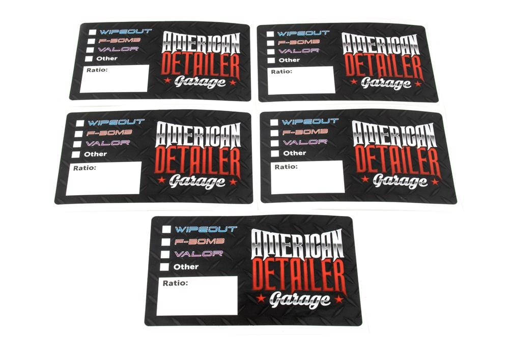 American Detailer Garage [Bottle Sticker] American Detailer Garage Labels (3 in. x 5 in.) 5 pack
