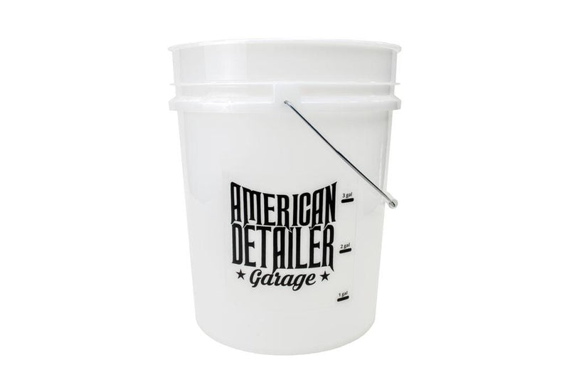American Detailer Garage [ADG BUCKET] 5 Gallon Clear with Gallon Markers & Lid