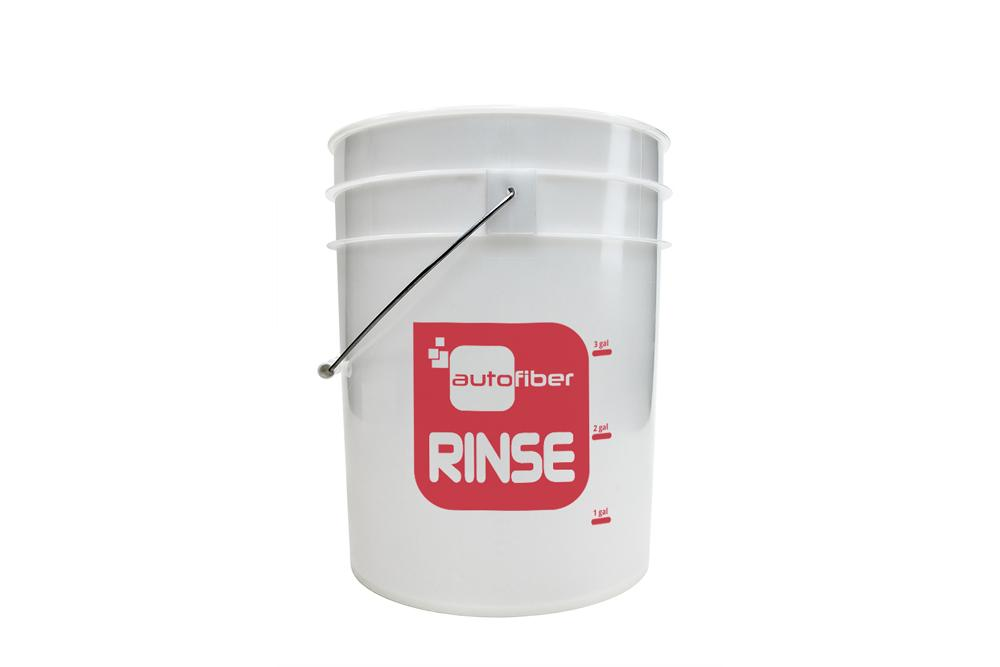 Autofiber [RINSE BUCKET] 5 Gallon Clear with Gallon Markers
