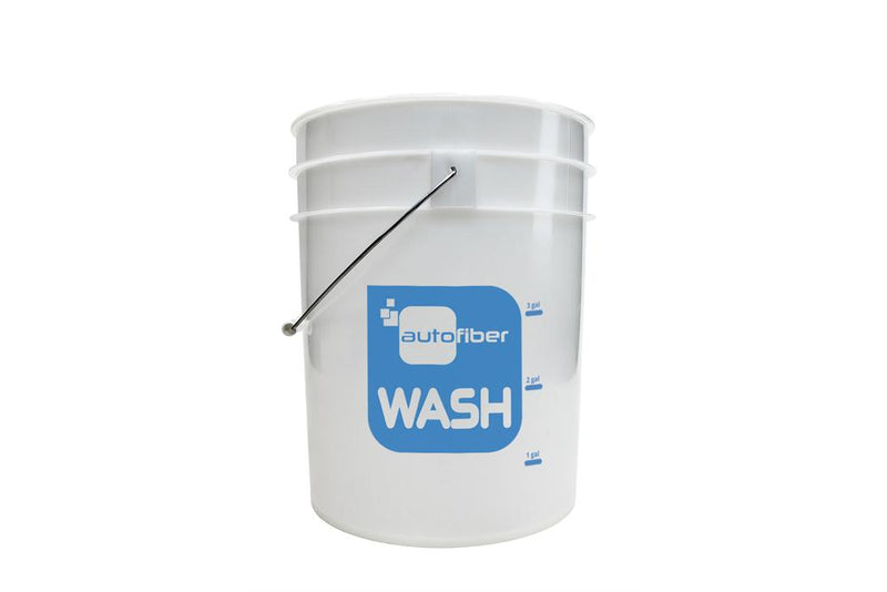 Autofiber [WASH BUCKET] 5 Gallon Clear with Gallon Markers