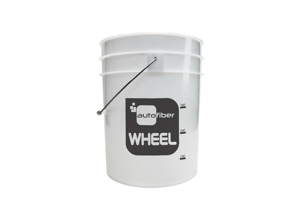 Autofiber [WHEEL BUCKET] 5 Gallon Clear with Gallon Markers