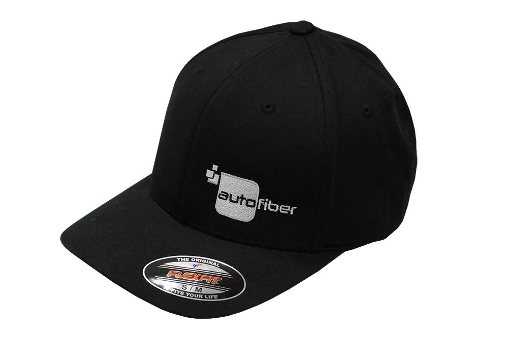 Autofiber Apparel [Autofiber Hat] Flex Fit - Black Silver Stitch