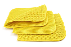 Autofiber Towel [Bug/Decon Flip] Microfiber Mesh Bug & Decontamination Towels - (8 in. x 8 in., 300 gsm) 3 pack