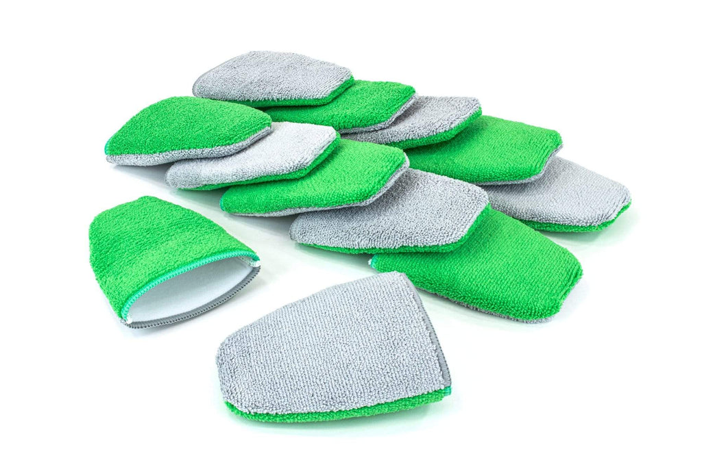 Autofiber Green [Saver Mitt] Coating Applicator Finger Mitt with Barrier Layer (5 in. x 4 in.) 12 pack