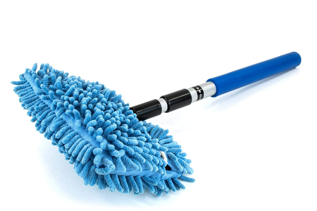 "Autofiber Accessory Noodle Fingers [Mitt on a Stick] Wash Tool - Short Pole  (21"" to 47"") - Car Wash Brush, Mop, Mitt"