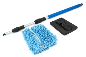 "Autofiber Accessory [Mitt on a Stick] Extendable Wash Tool - Long Pole (41"" to 85"") - Car Wash Brush, Mop, Mitt"