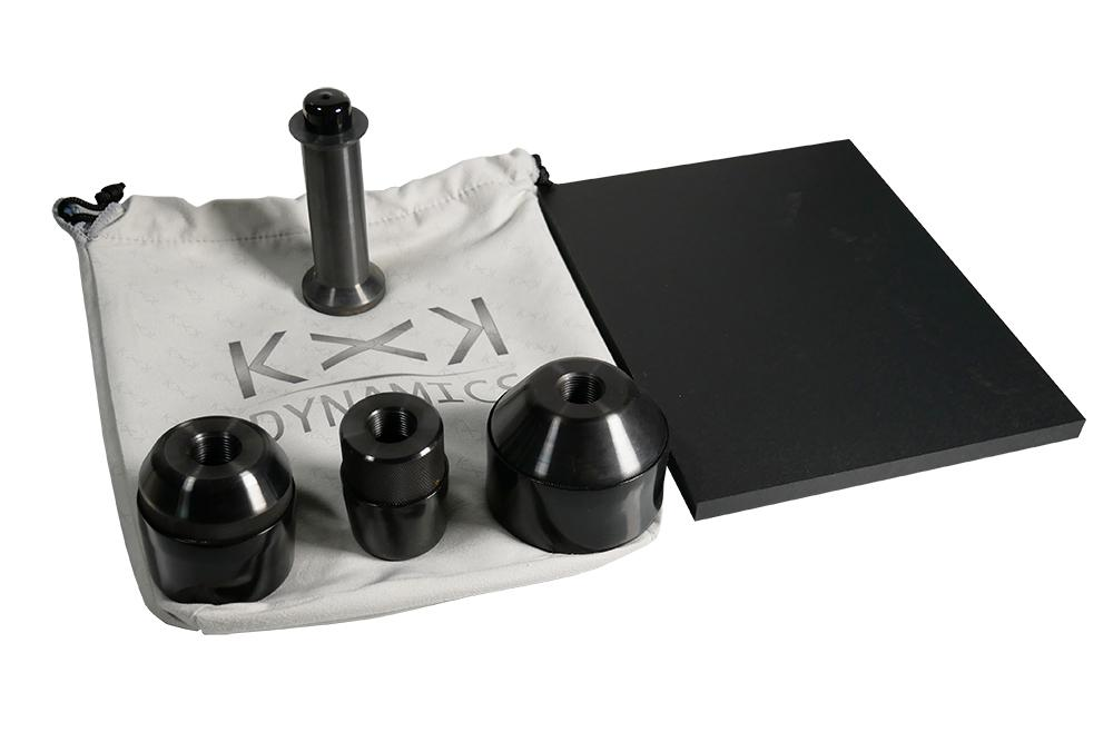 KxK Dynamics Accessory [Complete Pad Punch Set] Pad Punch Set + Stryker Handle + Punch Board + Branded Bag