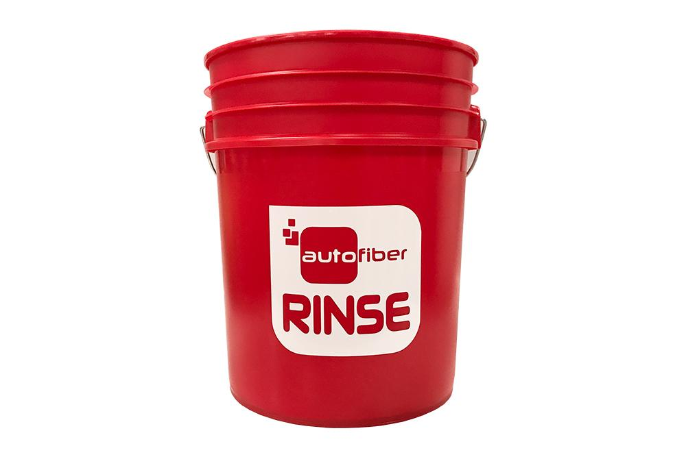[RINSE BUCKET] 5 Gallon Red with Autofiber Vinyl