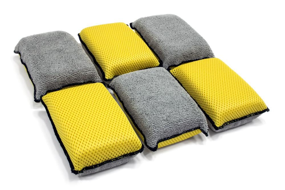 Autofiber Sponge [Block Scrubber] Upholstery and Leather Microfiber Scrubbing Sponge (6 pack)