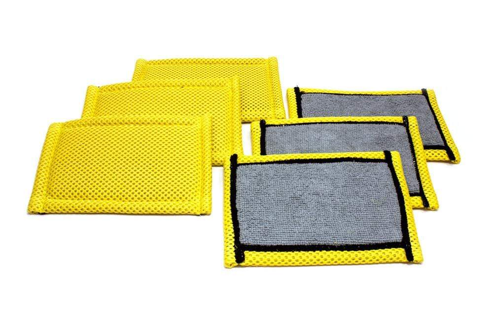 Autofiber Sponge [Skinny Scrubber] Leather and Interior Gentle Scrubbing Sponge (6 in x 4 in) 6 pack