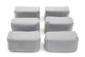 Autofiber Sponge Gray [Appli-Coat] Microfiber Ceramic Coating Applicator Pad (3 in. x 1.5 in. x 1.5 in.) 6 pack