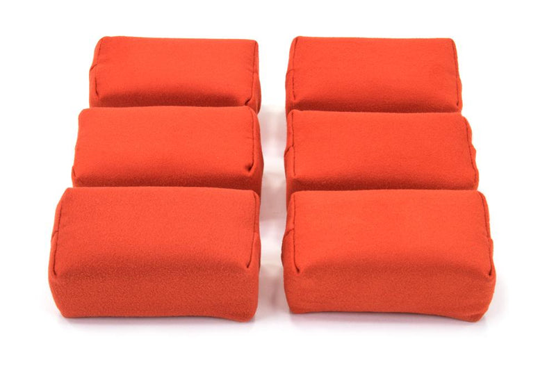 Autofiber Sponge Red [Appli-Coat] Microfiber Ceramic Coating Applicator Pad (3 in. x 1.5 in. x 1.5 in.) 6 pack