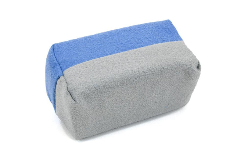 [Saver Applicator Smooth] Microfiber Suede Applicator Sponge with Plastic Barrier - Blue & Gray - 12 pack