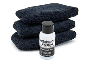 Autofiber [Sample Trim Restore Kit Black] Solution Finish Original Black 1 oz with 3 [Finger Applicators]