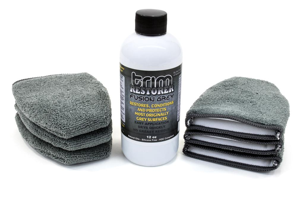 Solution Finish [Trim Restore Kit Gray] Solution Finish Fusion Gray 12 oz with 6 [Finger Applicators]