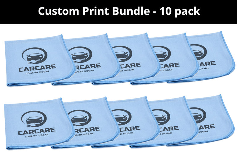 CUSTOM [Smooth Glass] Printed Logo Towel - 10 pack