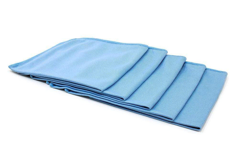 Autofiber Towels Blue [Smooth Glass] Microfiber Window and Mirror Towel (16 in. x 16 in., 260 gsm) 5 pack