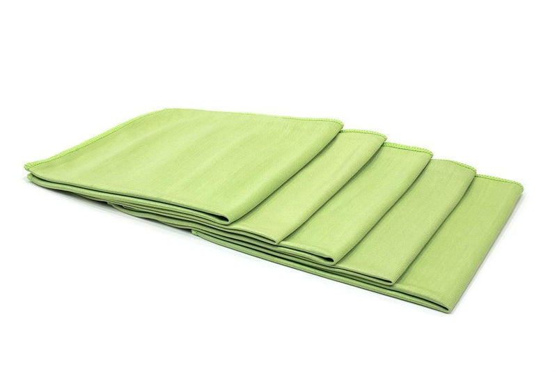 Autofiber Towels Green [Smooth Glass] Microfiber Window and Mirror Towel (16 in. x 16 in., 260 gsm) 5 pack