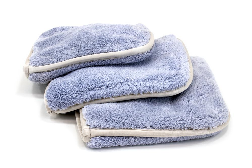 [Double Flip 70.30] Spray Wax/Sealant Microfiber Towel (8 in. x 8 in., 1200 gsm) 3 pack