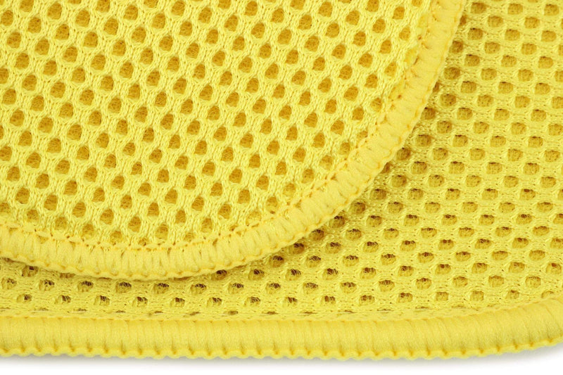 Autofiber Towel [Bug/Decon Flip] Microfiber Mesh Bug & Decontamination Towels - (8 in. x 8 in., 300 gsm) 6 pack