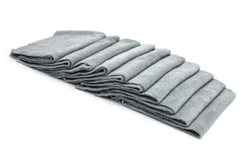 Autofiber Towels Gray [Utility 70.30] Premium Edgeless Multi Task Detailing Towel (16 in. x 16 in., 300 gsm) - 10 pack