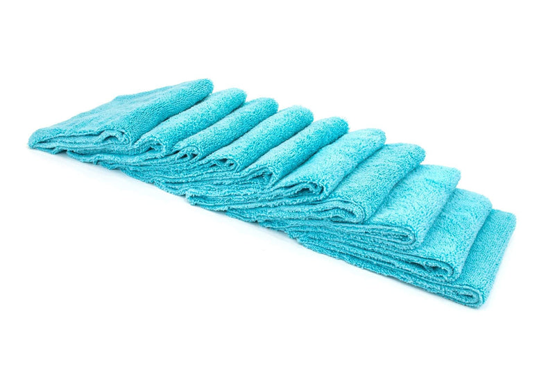Autofiber Towel Teal Blue [Cost What!] Edgeless Microfiber Shop Rag (16 in. x 16 in.) - 10 pack