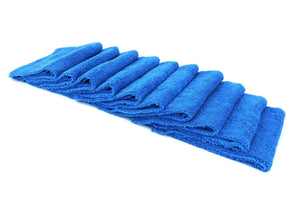 Autofiber Towel Blue [Cost What!] Edgeless Microfiber Shop Rag (16 in. x 16 in.) - 10 pack