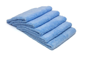 Autofiber Towel Blue [Elite] Edgeless Microfiber Detailing Towels (16 in. x 16 in. 360 gsm) 5 pack