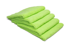 Autofiber Towel Green [Elite] Edgeless Microfiber Detailing Towels (16 in. x 16 in. 360 gsm) 5 pack