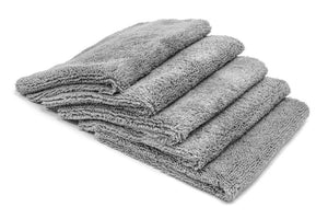 Autofiber Towel Gray [Elite] Edgeless Microfiber Detailing Towels (16 in. x 16 in. 360 gsm) 5 pack