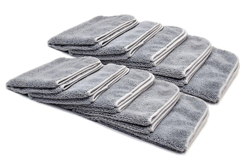 Autofiber Towel Gray [Elite] Microfiber Detailing Towels with MicroEdge (16 in. x 16 in. 360 gsm) 10 pack