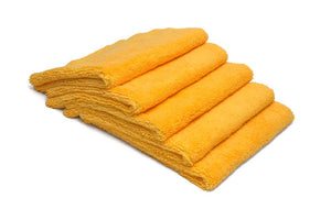 Autofiber Towel Gold [Elite] Edgeless Microfiber Detailing Towels (16 in. x 16 in. 360 gsm) 5 pack