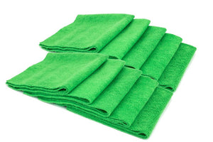 Autofiber Towel Green [Mr. Everything] Premium Paintwork Towel (16 in. x 16 in., 390 gsm) 10 pack