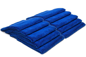 Autofiber Towel Blue BULK PACK [Elite 70.30] Microfiber Detailing Towels (16 in. x 16 in., 400 gsm) 10 pack