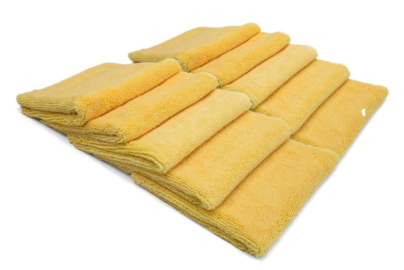 Autofiber Towel Yellow BULK PACK [Elite 70.30] Microfiber Detailing Towels (16 in. x 16 in., 400 gsm) 10 pack