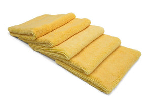 Autofiber Towel Yellow [Elite 70.30] Microfiber Detailing Towels (16 in. x 16 in., 400 gsm) 5 pack