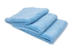 Autofiber Towel Blue / Edgeless [Detailer's Delight] Heavyweight Microfiber QD and Final Wipe Towel (16 in. x 16 in., 550 gsm) 3 pack