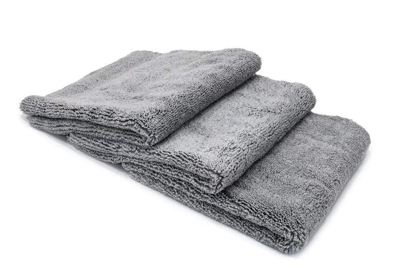 Autofiber Towel Gray / Edgeless [Detailer's Delight] Heavyweight Microfiber QD and Final Wipe Towel (16 in. x 16 in., 550 gsm) 3 pack