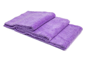 Autofiber Towel Purple / Edgeless [Detailer's Delight] Heavyweight Microfiber QD and Final Wipe Towel (16 in. x 16 in., 550 gsm) 3 pack