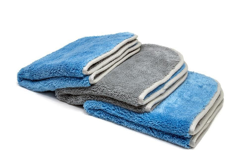 [Duo Fluff] Two-Tone High-Pile Plush Microfiber Detailing Towel (700 gsm, 16 in. x 16 in.) - 3 pack
