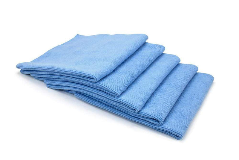 Autofiber Towel Blue [Buffmaster] Microfiber Polish and Buffing Towel (16 in. x 16 in., 400 gsm) - 5 pack