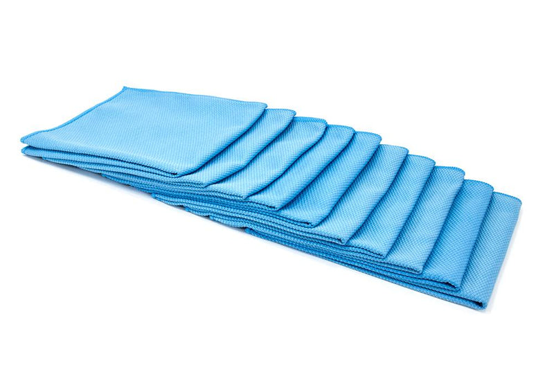 Autofiber Towel Blue [Diamond Glass] Microfiber Window and Mirror Cloth (16 in. x 16 in., 300 gsm) 10 pack