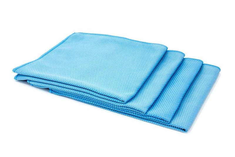Autofiber Towel Blue [Diamond Glass] Microfiber Window and Mirror Cloth (16 in. x 16 in., 300 gsm) 4 pack