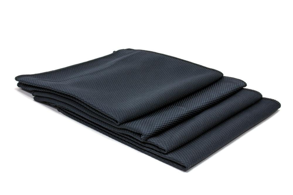 Autofiber Towel Black [Diamond Glass] Microfiber Window and Mirror Cloth (16 in. x 16 in., 300 gsm) 4 pack