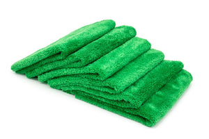 Autofiber Towel Green [Korean Plush 350] Edgeless Detailing Towels (16 in. x 16 in. 350 gsm) 6 pack