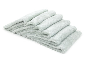 Autofiber Towel Light Gray [Korean Plush 350] Edgeless Detailing Towels (16 in. x 16 in. 350 gsm) 6 pack