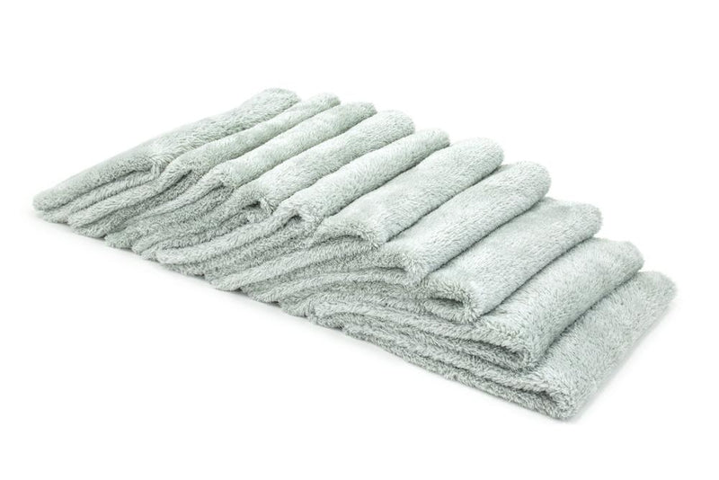 Autofiber Towel Light Gray [Korean Plush 350] Microfiber Detailing Towel (16 in. x 16 in., 350 gsm) 10 pack BULK BUNDLE